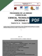 Ciencia Tecnología y Sociedad II