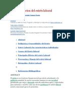 Causas y Efectos Del Estrés Laboral