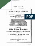 Vayu Purana Volume1 Rajendralala Mitra 1881