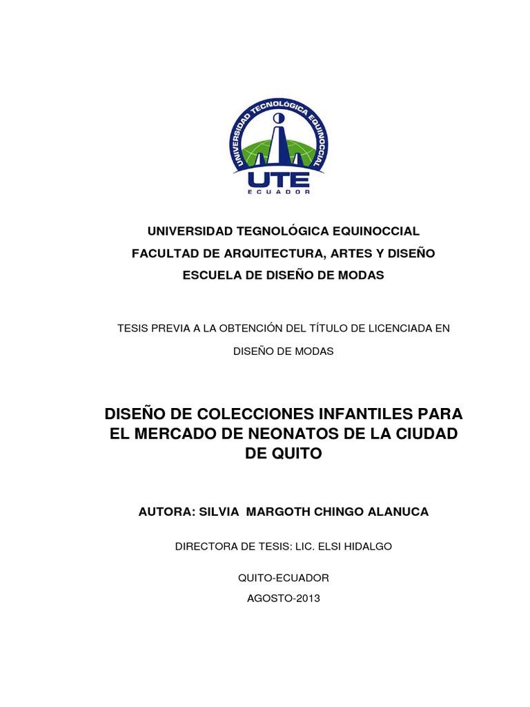ff8647077 Tesis Diseño de Colecciones Infantiles Para El Mercado de Neonatos ...