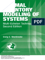 Optimal Inventory Modeling of Systems Multi Echelon Techniques