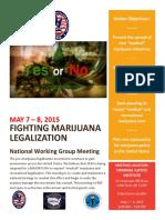 Fighting Marijuana Legalization National Working Group 2015 Meeting flyer
