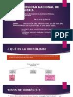 Hidrólisis  ,ejemplo