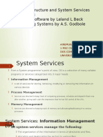 OS SystemServices&MachineStructure