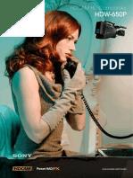 Sony HDW-650P Brochure