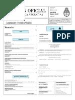 Boletín Oficial de la República Argentina, Número 33.347. 31 de marzo de 2016