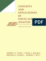 Cook, Malkus, Plesha, Witt - Concepts & Appls of Finite Element Anal - 4a. Ed. - J. Wiley - 2002 - 733p
