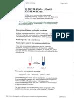 Chemguide Inorganic Complex Ions Ligand Exchange 1