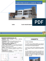 Programa Arquitectonico de Casa de La Juventud - Piura