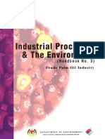 Industrial Process and the Environment- Crude Palm Oil Industry