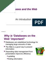 Web Enabled Databases (Web-DB)