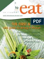 Where to Eat Phuket May - June 2010