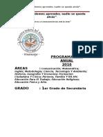 Programación Del 1er Grado-2016