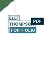 Ele Thompson COMM 130 Portfolio