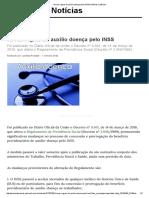 Novas Regras Do Auxílio Doença Pelo INSS _ Notícias JusBrasil