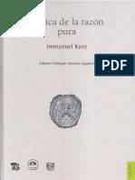 [1781] Kant - Critica de La Razon Pura - Mario-Caimi-FCE