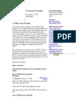 Icom IC7000 Tuner Connector Warning