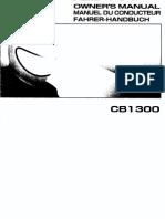 CB1300 Owner's Manual