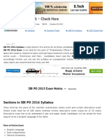 SBI PO Syllabus 2016 - Complete Details