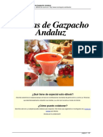 Recetas de Gazpacho Andaluz