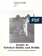 cooleman court guide to cricket skills and drills