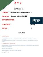 lab de quimica PRAACTICA N°2