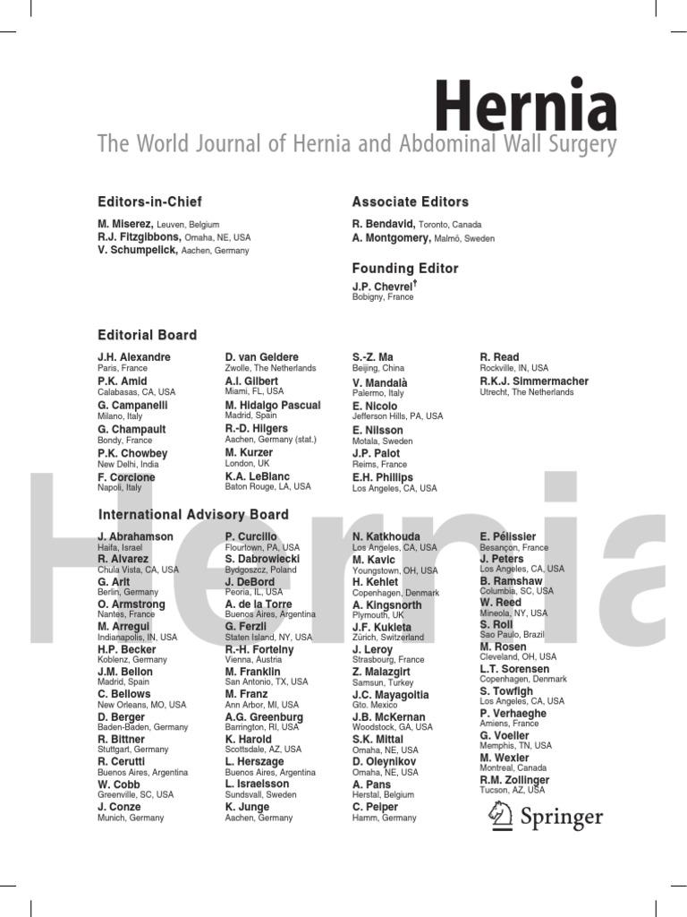 HerniaAbstractBook_Milan2015 | Surgery | Survey Methodology