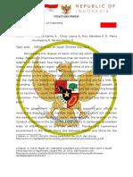 Position Paper Indonesia for Aec - Model Asean