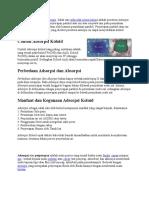 Pengertian Dan Definisi Adsorpsi
