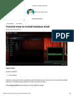 Tutorial How to Install Hulubox Kodi