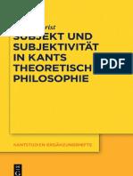 【康德研究】康德理论哲学中的主体与主体性