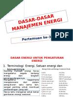 Dasar-dasar Manajemen Energi