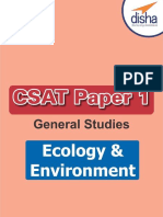 CSAT General Studies Paper 1 - Ecology & Environment