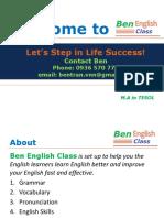 Ben English Introduction