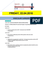 Escvs Program for Vascular session on 22.04.2016