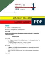 Escvs Program for Cadiology session on 23.04.2016