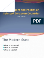 European Politics and Government