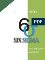 Bilal Ahmed Shaik Six Sigma