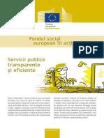 Servicii publice transparente şi eficiente