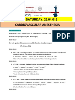 Escvs Program for Cardiovascular Anesthesia
