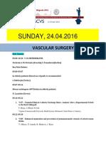 Escvs Program for Vascular surgery session on 24.04.2016