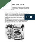 Scientific Events 1945-1968