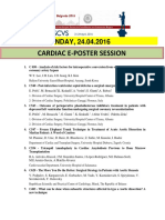 Escvs Program for CARDIAC E-POSTER session on 24.04.2016