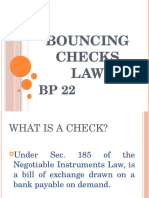 Bouncing Checks Law
