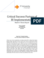 11.Critical Success Factors of BI Implementation