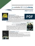 Catálogo de Cine Abril 2016