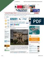 18.3.2016, 'Sabato e Domenica Villa Zanelli a Savona Apre i Cancelli Con Il FAI', Savonanews