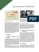 Terroranschläge in Brüssel Am 22. März 2016