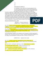 Transpo Law - Codal Provisions