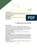 2 Quran Al Baqarah